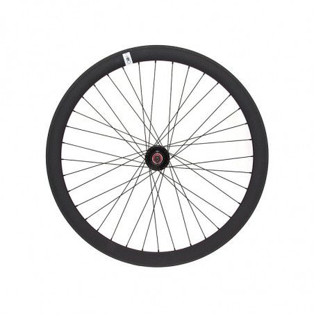 Fixed rear wheel black (circle 43 mm)