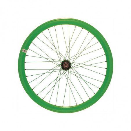 RFIXEDPV Ruota bici fixed online shop posteriore fluo verde