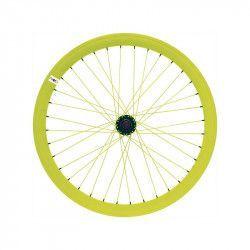 """Ruota fixed 28"""" posteriore giallo fluo (cerchio 43 mm)"""
