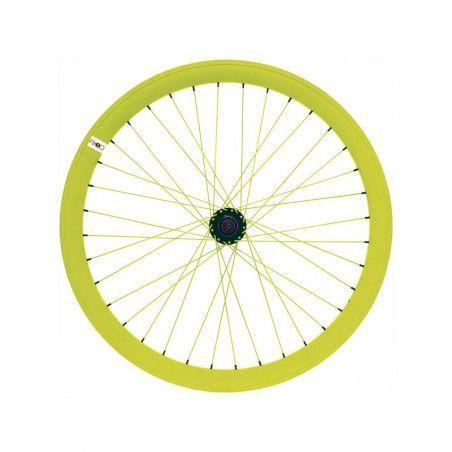 RFIXEDPG Ruota bici fixed online shop posteriore fluo gialla
