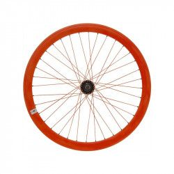 Fixed rear wheel fluo orange (circle 43 mm)