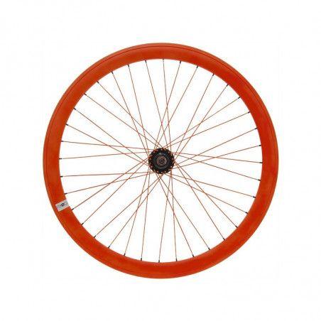 Fixed rear wheel fluo orange (circle 43 mm)