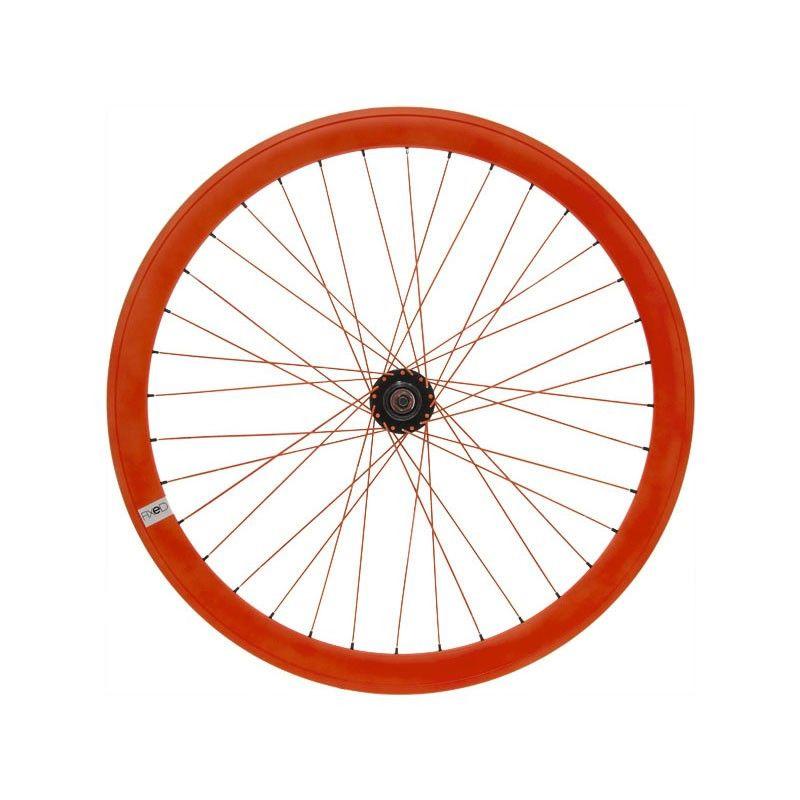 Fixed front wheel fluo orange (circle 43 mm)  - 1