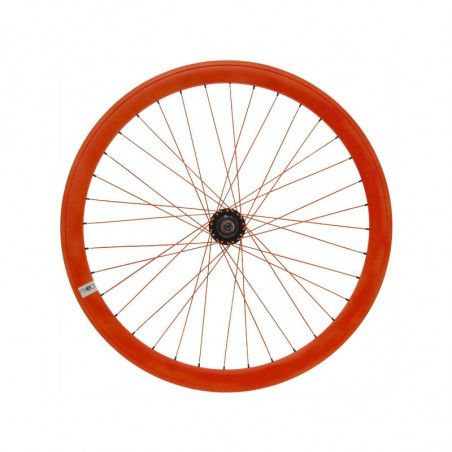Fixed front wheel fluo orange (circle 43 mm)
