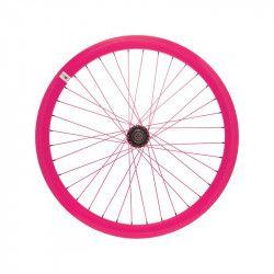 RFIXEDAF Ruota bici fixed online shop anteriore fluo fuxia