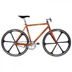 "Aluminum frame fixed cromovelato orange size 53, Fork 1 ""threaded"