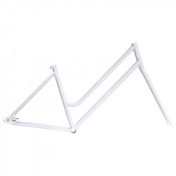 "Steel frame fixed white woman measuring 46 fork with 1 ""threaded"
