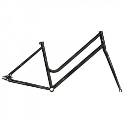 "Steel frame fixed matte Black woman measuring 46 fork with 1 ""threaded"
