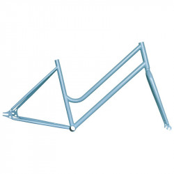 "Steel frame fixed blue woman measuring 46 fork with 1 ""threaded"