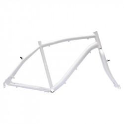 """Aluminum frame City Bike """"Elegance"""" man measuring 50 white"""