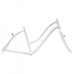 "Aluminum frame City Bike ""Elegance"" woman white"