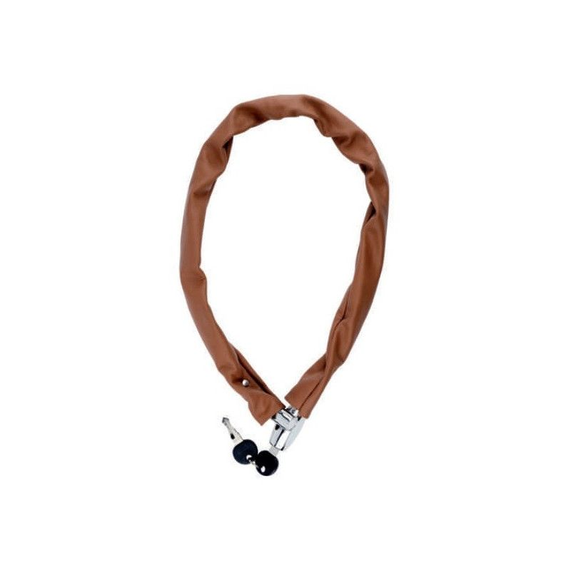 Padlock chain leather-wrapped Honey  - 1