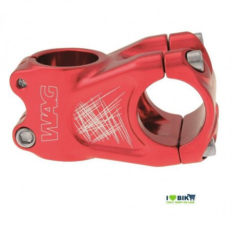 Stem Wag aluminum A-head red anodized