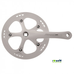 Crank SOLID with chain guard 46T X 3/32 X 165 - WHITE