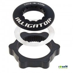 Adapter discs Centerlock black Alligator