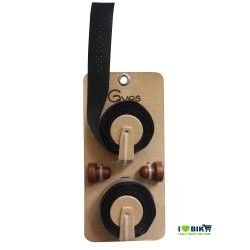 Handlebar tape Leather Gyes black