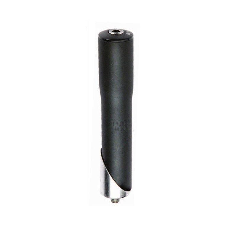 Piantone in alluminio nero adattatore diamentro 22-25.4 mm  - 1