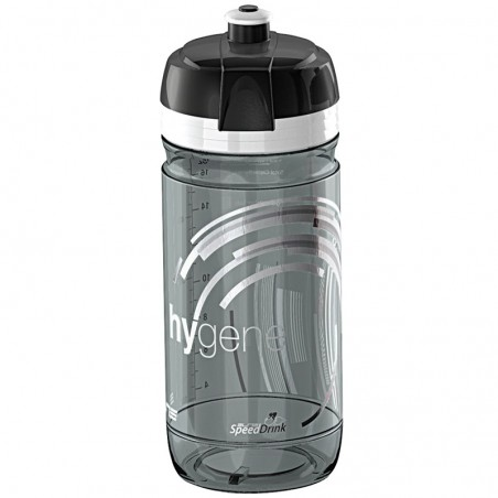 higene Elite Water Bottle 550 ml transparent black smoke