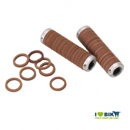 Leather knobs Gyes brown