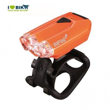 Fanale anteriore a led Lava arancio con carica usb online shop