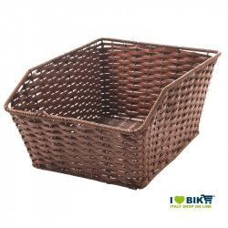 Rear wicker rectangular brown leather RMS - 1