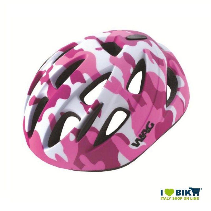 Casco bici SKY KID camouflage rosa taglia XS  - 1