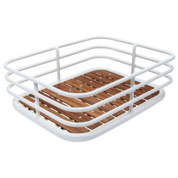 Cage aluminum trash vintage white wooden base online shop