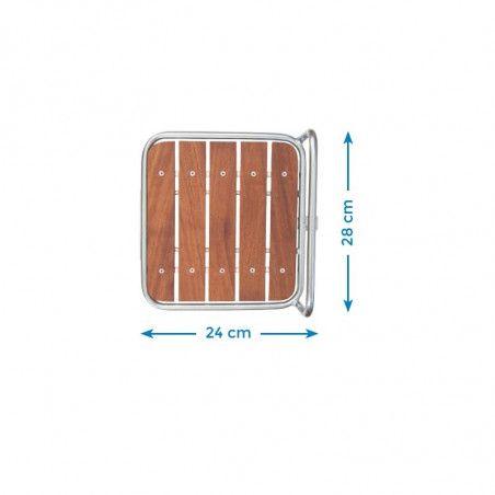 Portapacco Messenger bianco con base in legno online shop