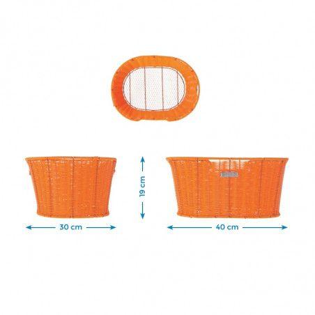 Basket bicycle front BRN Liberty Vintage Coffee sale online
