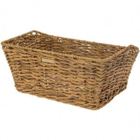 Rattan rectangular basket BRN natural online sale