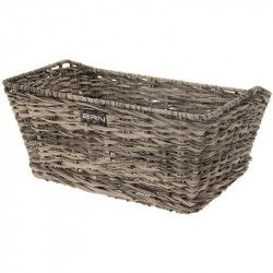 Rattan rectangular basket BRN gray online sale