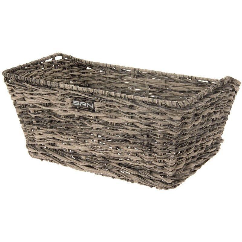 Rattan rectangular basket BRN gray BRN - 1