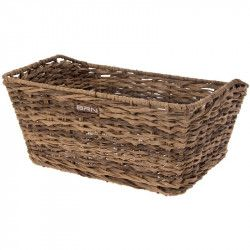 Rattan rectangular basket BRN brown
