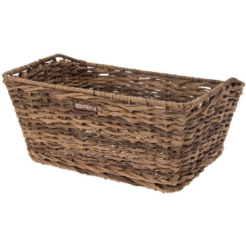 Rattan rectangular basket BRN brown BRN - 1