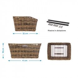 Rattan rectangular basket BRN brown BRN - 2