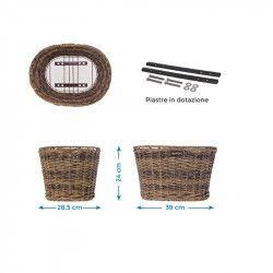 Rattan oval basket BRN brown BRN - 2