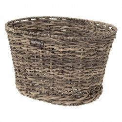 Rattan oval basket bike BRN gray online shop