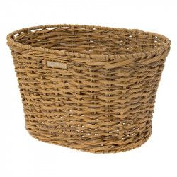 Rattan oval basket bike BRN natural online shop