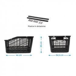 Basket black plastic rear Shopper BRN - 2
