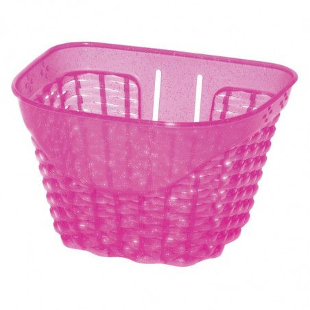 Happy pink plastic baby basket bicycle shop online