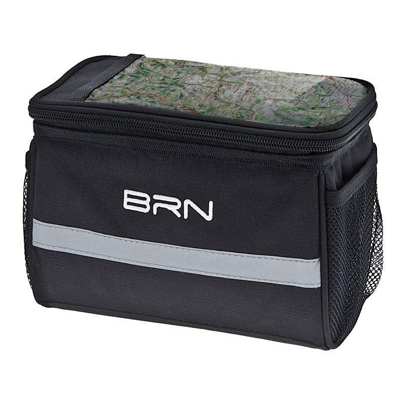 big black purse on the handlebars BRN - 1