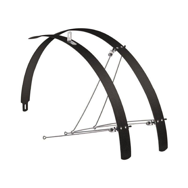 Coppia parafanghi bici Piatti in alluminio Neri 42mm vendita online