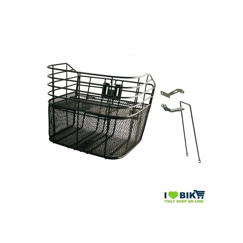 Front basket black cap with anti-theft  - 1