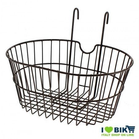 front basket with iron hooks black