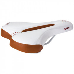Ergonomic bike saddle white / honey Gel Man online shop