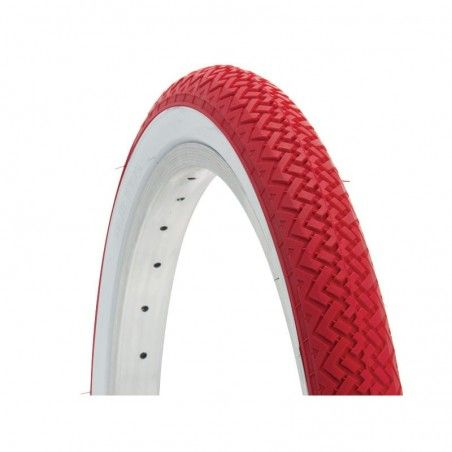 Tire colored graziella 20x1.75 white / red sale online