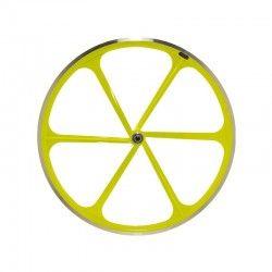 "Fixed Rear wheel 28"" 6-spoke aluminum Fluorescent yellow RMS - 1"