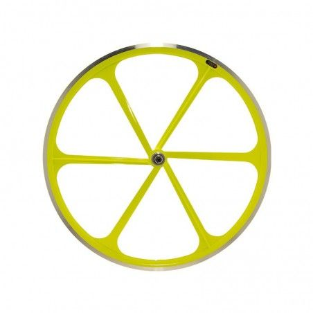 Rear wheel bike fixed fluorescent yellow line sale