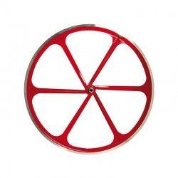 Ruota posteriore bici fixed 6 razze rossa online shop
