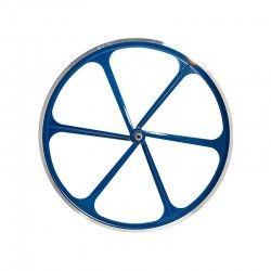 Ruota posteriore bici fixed 6 razze blu online shop